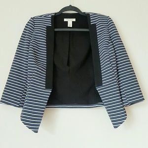 WHBM cropped striped jacket